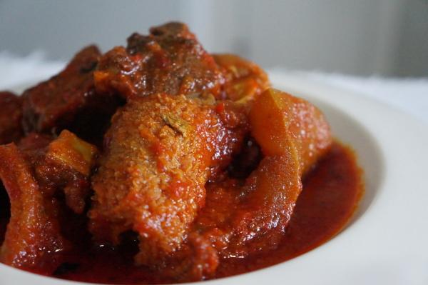 Buka - stew - yoruba - food - nigerian - sauce - shaki - ponmo - beef - meat