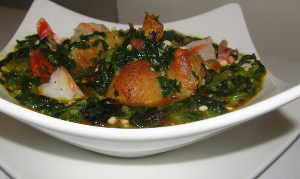Otong - okro - okra - ugu - vegetable -Soup - nigerian