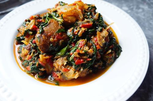 efo stew - naijafoodie - nigerian - food- recipe - yoruba - riro