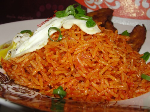 NIgerian Jollof Rice with Basmati Rice