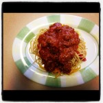 Fooding By Pearl : Spaghetti and Meat Sauce