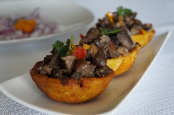 Asun_Smoked goat in plantain_9jafoodie