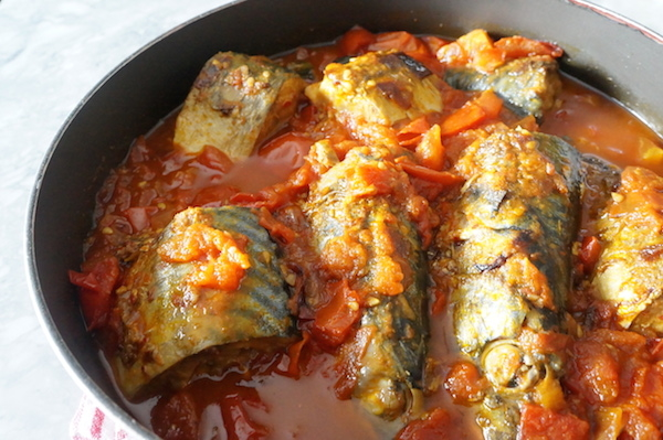 Mackerel - stew - tomato - sauce - nigerian - food - alaran