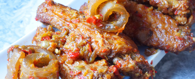 spicy - peppered - ponmo - turkey -Nigerian - food