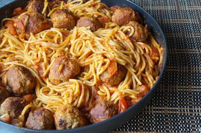 Spaghetti - meatballs - easy - recipe - nigeria