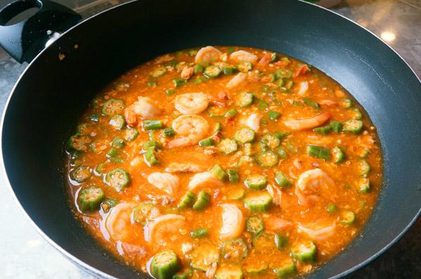 okro = okra - gravy - sauce - smoked - rice