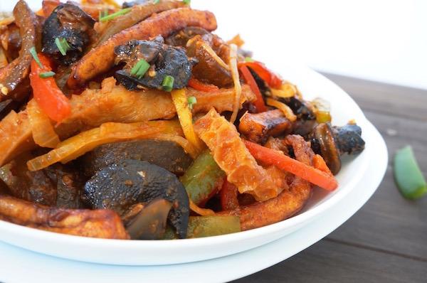Nigerian - Stir - fry - suya - snail - plantain - ponmo - shaki -9jafoodie - naijafoodie - origina