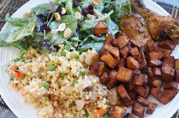 bulgur _ fried _ rice_ plantain