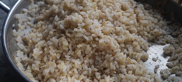 Boiled Ofada : Brown Rice