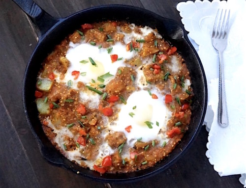 Potato and Garden Egg Skillet
