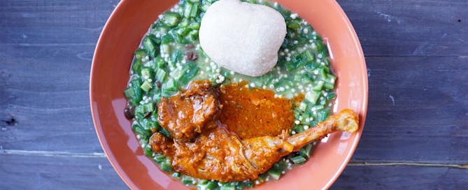 okra and garri healthy