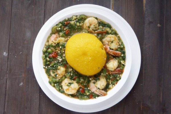 Garri and okro soup healthy