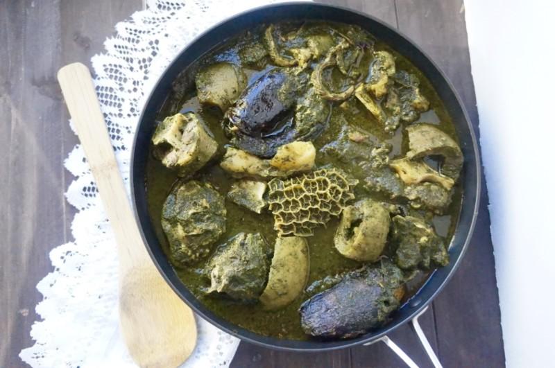 Marugbo, eweta, pupuru, ikala, ondo soup