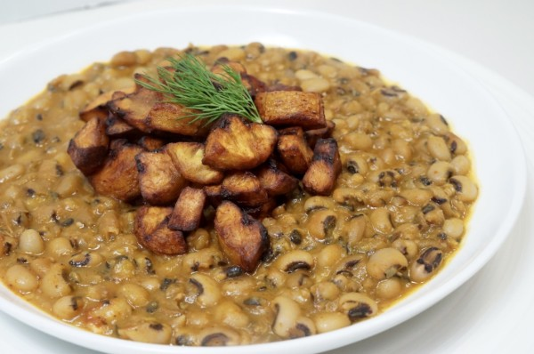Nigerian beans and plantain