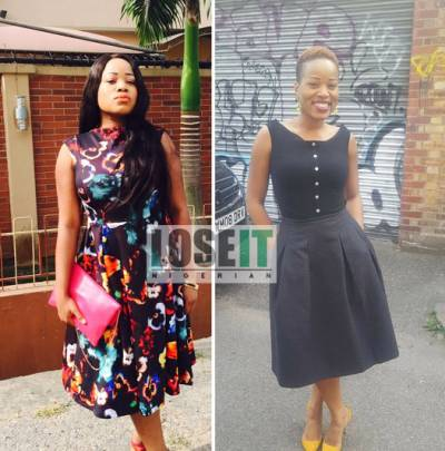 Lose It Nigerian weightloss before and after photo