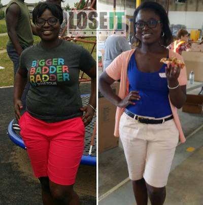 nigerian weightloss before and after