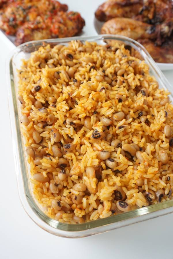Coconut rice and beans jollof rice
