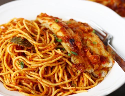Jollof Spaghetti