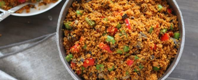 Jollof recipe with couscous