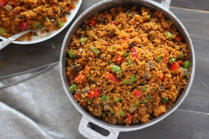 Jollof recipe with couscous