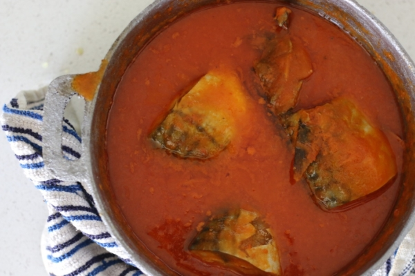 Nigerian mackerel Titus fish stew