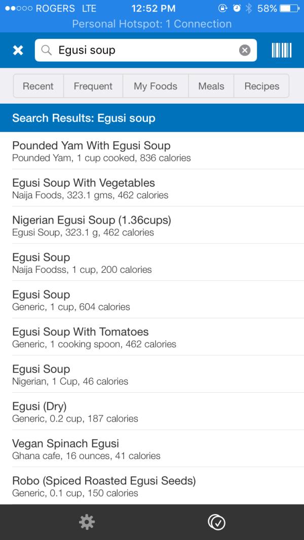calories in Nigerian foods