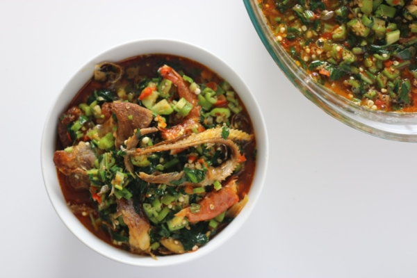 Okro soup with vegetables video recipe african nigerian soup okra okro panla okele swallow palm oil forumfinder Choice Image
